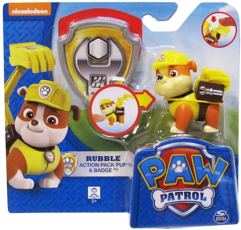 paw patrol rubble action pup  køb paw patrol legetøj hos