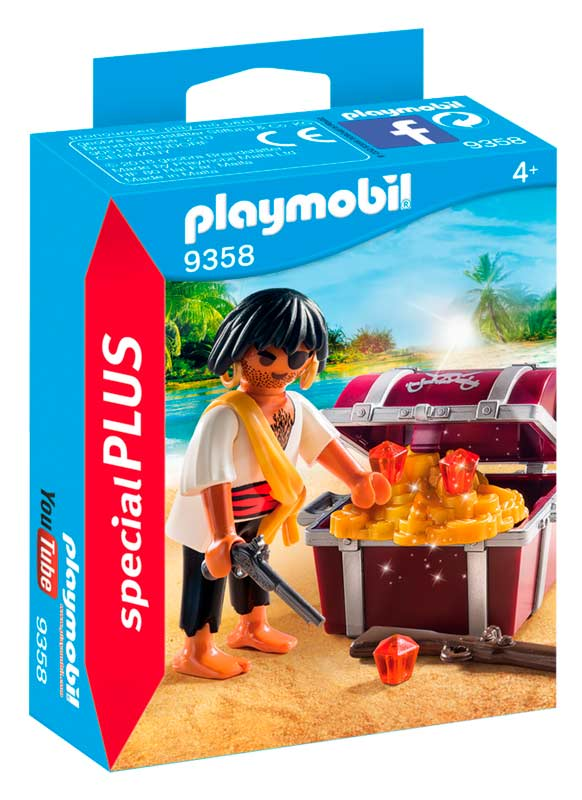 playmobil pirat med skattekiste med masser af tilbehør