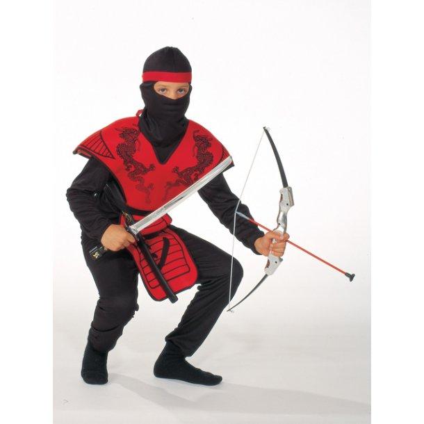 Fastelavnsdragt - Rød ninja str. 120