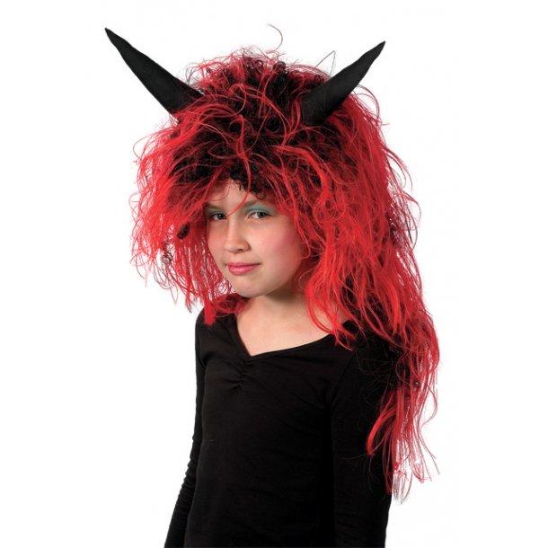 Fastelavnsparyk / halloween - Rød djævel one size.