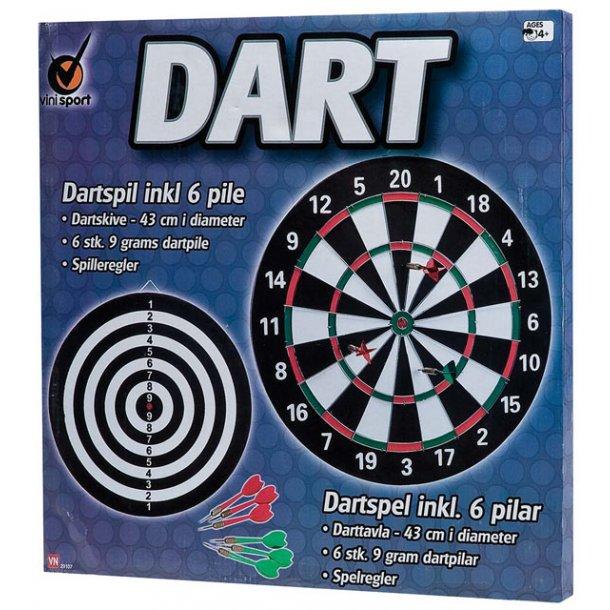 Dart - stort spil med 6 pile