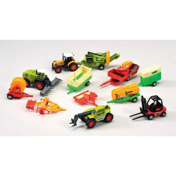 Mini Bull Traktor gavesæt med 12 dele.