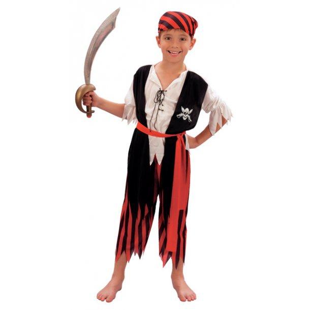 Fastelavnsdragt - Pirat dreng str. 140