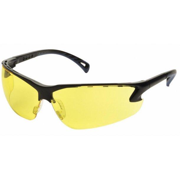 Brille - justerbar Skydebrille i klar gul farve.