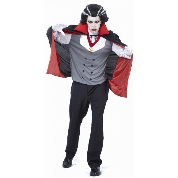 Halloween - Vampyr mand voksen dragt one size