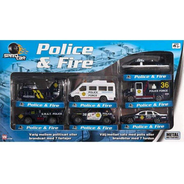 Politi sæt med 7 dele
