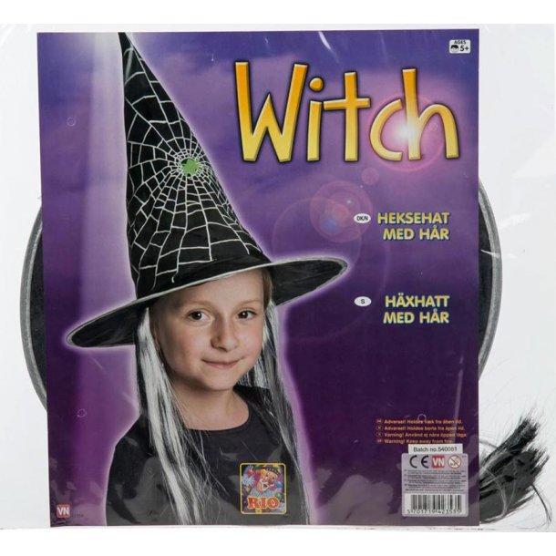 Heksehat med hår