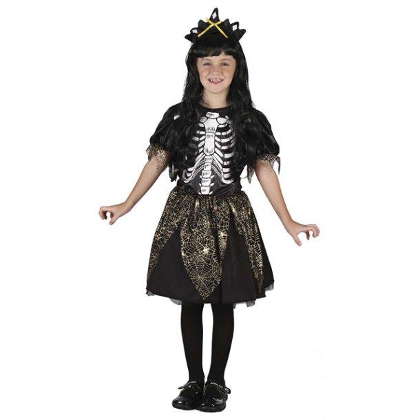 Skelet heks med hat - str. 120 cm.