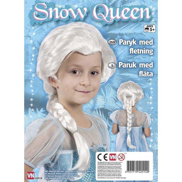 Snow queen paryk med fletninger