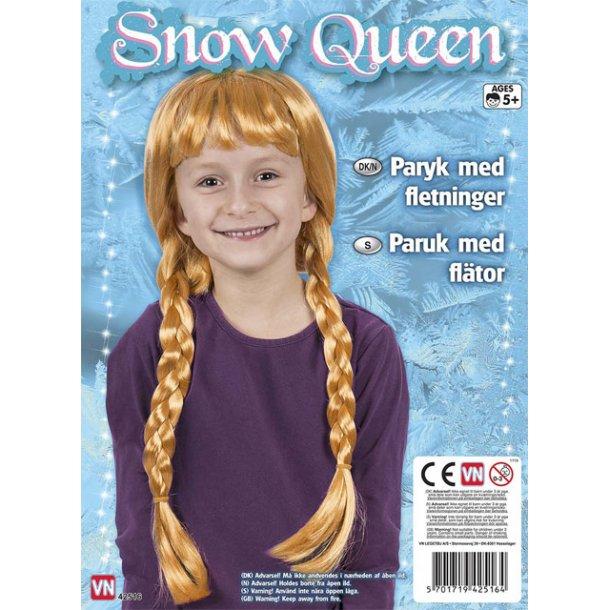 Snow queen gylden paryk