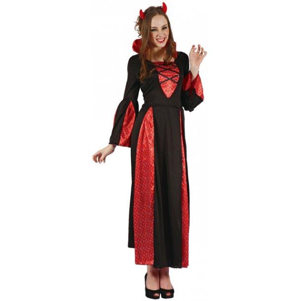 Halloween - Djævlekjole med horn - voksen