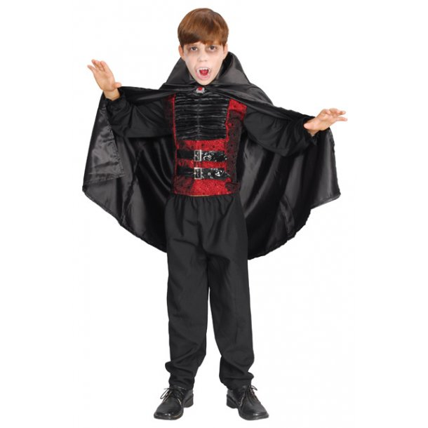 Vampyr dragt str. 140 cm.