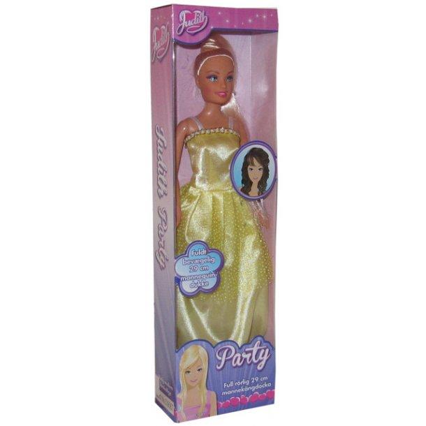 Judith dukke med gul kjole.