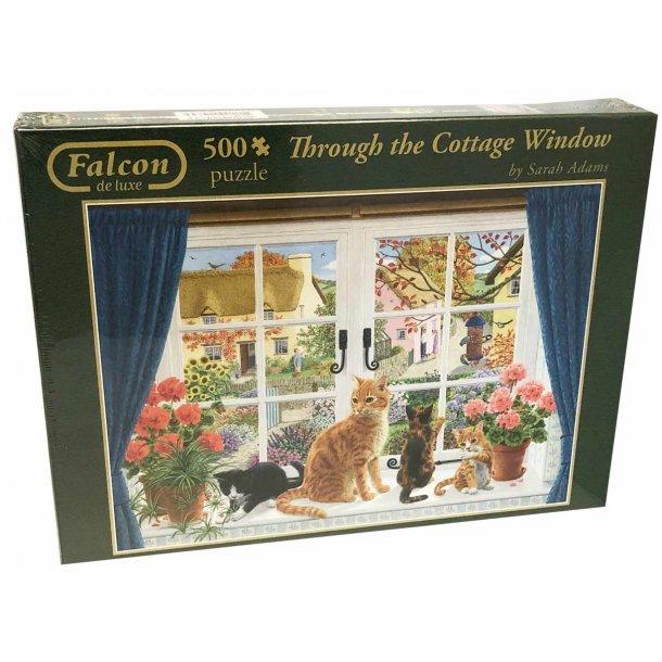 Falcon de luxe puslespil 500 brikker - katte i vindue