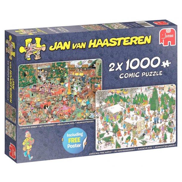 Jan van haasteren 2 x 1000 brikker - Juegaven