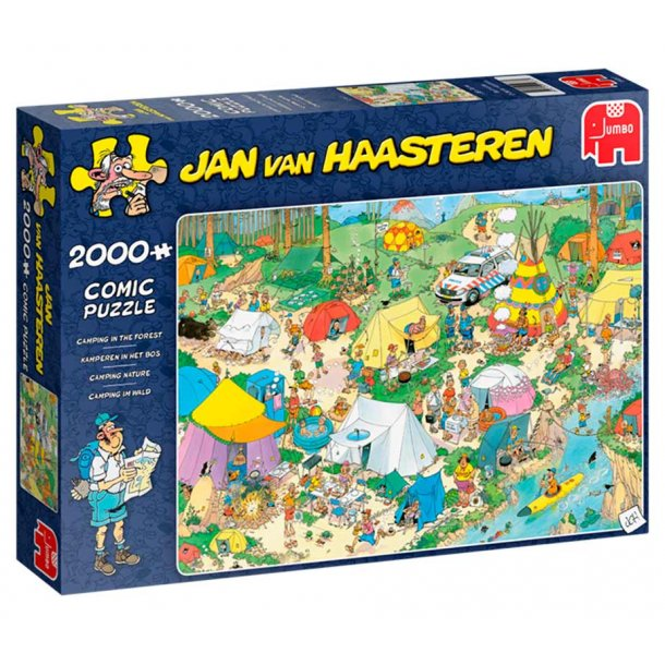 Jan van haasteren 2000 brikker - camping i skoven