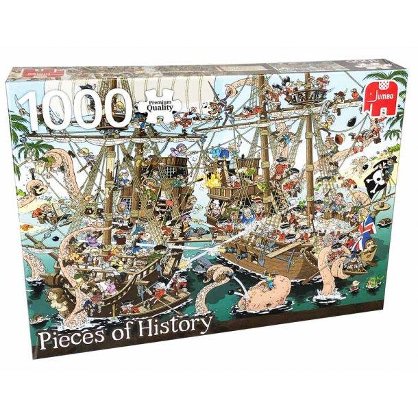 Jumbo puslespil 1000 brikker - pirater