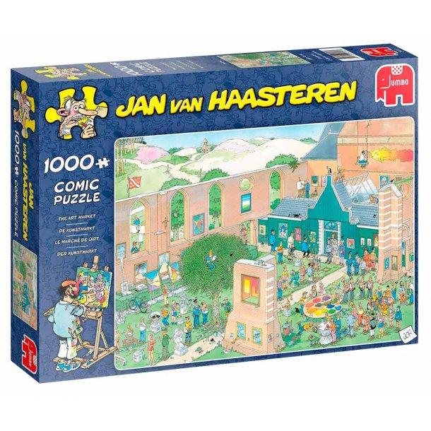 Jan van haasteren puslespil 1000 brikker - kunst marked