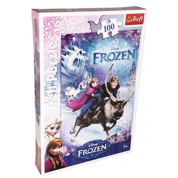 Trefl børnepuslespil - Frozen the rescue - 100 brikker