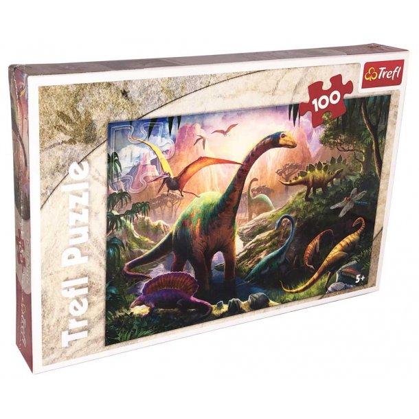 Trefl børnepuslespil - Dinosaurs land - 100 brikker