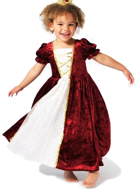 57d76fb492dd Prinsessekjole str. 6-7 år - Prinsesse kjole til piger i rød farve