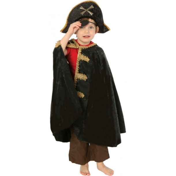 Pirat kaptajn kappe str. 4 - 8 år.