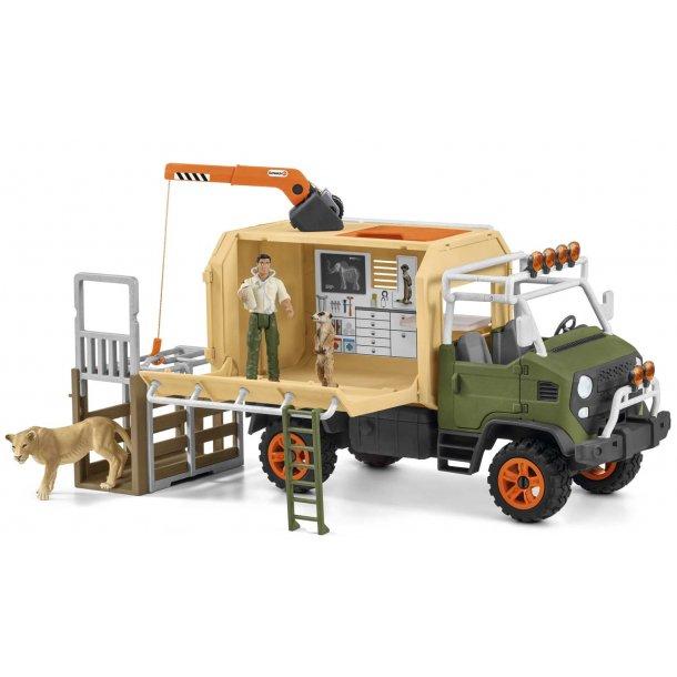 Lastbil til dyreredning med tilbehør