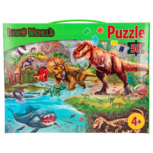 Dino World puslespil - 50 brikker
